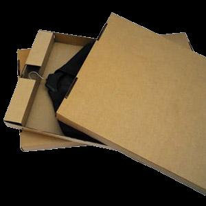 Cajas para una prenda con percha