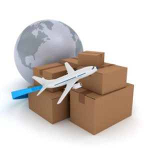 Cajas embalaje en transporte aéreo