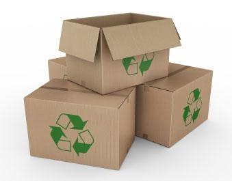Caja carton reciclado para envio