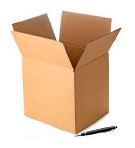Cajas de carton de canal simple de 21-15-25