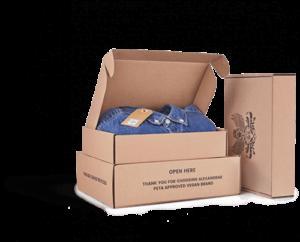cajas de carton para envios textiles