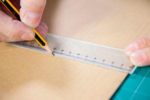 medir una caja