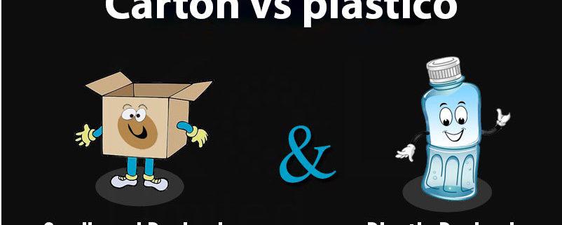 Cartón vs plástico