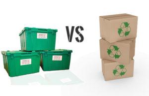 cajas de embalaje de carton y plastico