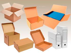 Todo tipo de cajas de cartón